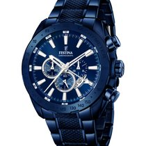 Festina Steel 44.6mm Quartz F16887/1 new