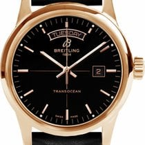 Breitling Transocean Day & Date Rose gold 43mm Black No numerals United States of America, New Jersey, Princeton