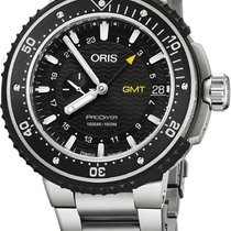 Oris new Automatic Small seconds Luminous numerals Luminous hands Rotating Bezel Screw-Down Crown Helium Valve 49mm Titanium Sapphire crystal