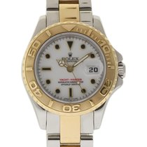 Rolex Steel Automatic White 29mm pre-owned Yacht-Master