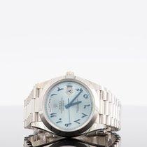 Rolex Day-Date 40 Platin 40mm Blau Arabisch