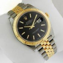勞力士 (Rolex) DATEJUST 41 Yellow Gold & Steel 126333 Black Stick...