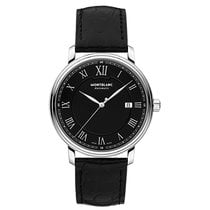 Montblanc Tradition Acero 38mm Negro Romanos