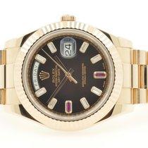 Rolex Day-Date II / President II Baguette Diamond & Ruby dial