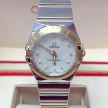 Omega Constellation Quartz Gold/Steel Mother of pearl No numerals