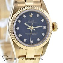 Rolex Oyster Perpetual Yellow gold 26mm Black No numerals