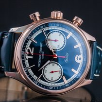 Frederique Constant Vintage Rally Staal 42mm Blauw