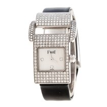 Piaget Λευκόχρυσος Χαλαζίας Piaget White Mother Of Pearl Diamond 18k White Gold Miss μεταχειρισμένο