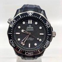 Omega Titane Remontage automatique Noir Sans chiffres 43.5mm nouveau Seamaster Diver 300 M