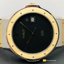Hublot Classic Acero y oro 36mm Negro Sin cifras