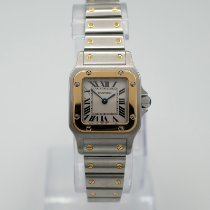Cartier Santos Galbée Gold/Steel 24mm White Roman numerals United States of America, California, Marina Del Rey
