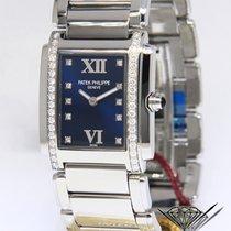 Patek Philippe Twenty-4 Steel & Diamond Blue Dial Ladies Watch...