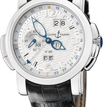Ulysse Nardin Platinum Automatic 42mm pre-owned GMT +/- Perpetual