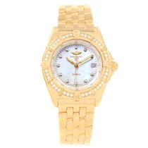 Breitling Wings Lady Yellow gold 31.5mm Mother of pearl