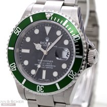 Rolex Submariner Date Ref-16610 LV Fat Four, Stainless Steel...