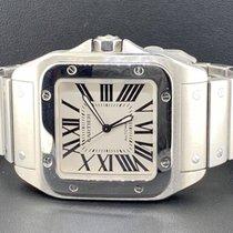 Cartier Santos 100 38mm Srebrny