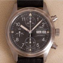 IWC Pilot Chronograph Staal 39mm Zwart Arabisch Nederland, Amstelveen