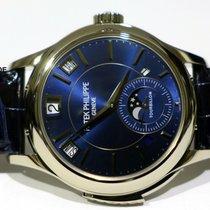 Patek Philippe Minute Repeater Perpetual Calendar Bílé zlato 41mm Modrá