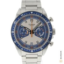 Tudor Heritage Chrono Blue Steel 42mm Arabic numerals