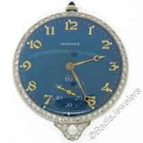Longines Platinum Manual winding Blue Arabic numerals 39mm pre-owned
