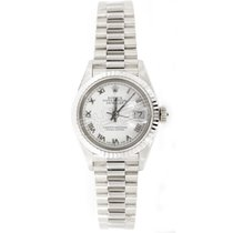 Rolex White gold White Roman numerals 26mm pre-owned Lady-Datejust