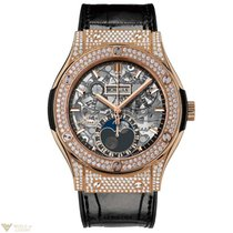 Hublot Classic Fusion 45mm Moonphase King Gold Pave Automatic...