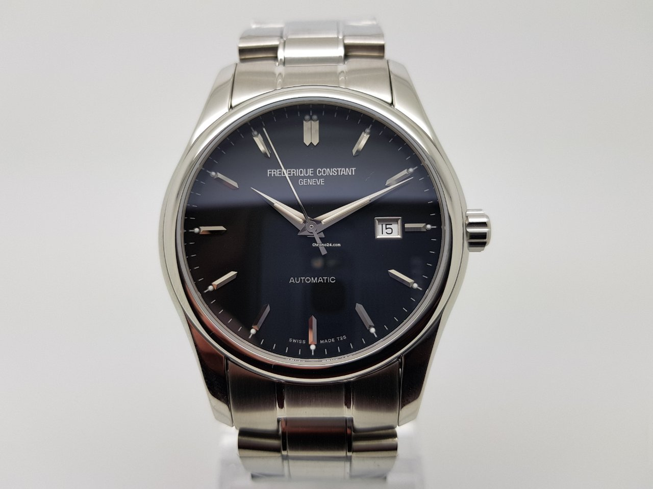Frederique Constant Clear Vision Automatic Watch Black Dial Stainless Steel