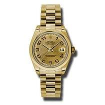 Rolex Lady-Datejust Жёлтое золото 31mm Цвета шампань Aрабские