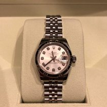 Rolex Lady Datejust Oyster Perpetual Diamond Dial 18k White...