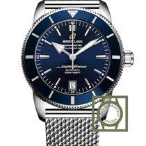 Breitling Superocean Heritage II Blue Dial Steel Strap...