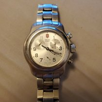 Victorinox Swiss Army Steel 42mm Quartz Officer's pre-owned