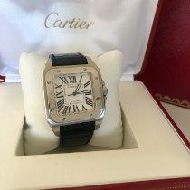 Cartier Santos 100 Сталь 38mm Белый Римские