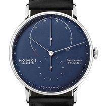 NOMOS Lambda White gold 42mm Blue