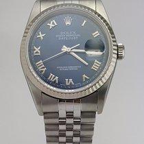 Rolex Datejust II 36mm Roman Blue Dial 16234