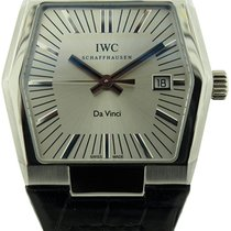 IWC Da Vinci Automatic pre-owned 41mm Silver Date Crocodile skin