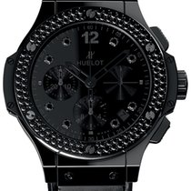 Hublot Big Bang All Black Ceramic Diamonds Men`s Watch