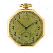 Waltham Κίτρινο χρυσό 42.5mm Χειροκίνητη εκκαθάριση μεταχειρισμένο