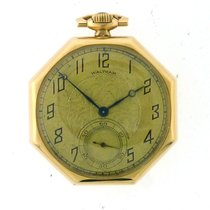Waltham Yellow gold 42.5mm Manual winding pre-owned United States of America, California, Beverly Hills