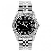 Rolex Midsize Datejust Unisex 31mm Black Dial Stainless Steel...