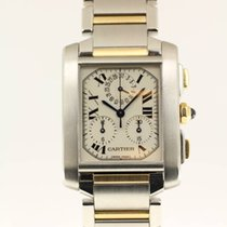 Cartier Tank Française ChronoFlex Chronograph NEW SERVICE by...