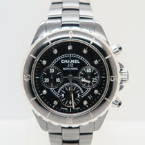 Chanel Chronograph 41mm Automatic 2015 pre-owned J12 Black