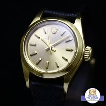 Rolex Oyster Ladies Perpetual Carmela Dial 18 K Yellow Gold 6718