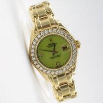 Rolex Pearlmaster Datejust 18K Gelbgold Diamantbesatz 69318