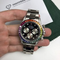 Rolex Daytona Rainbow Custom White Gold 116509 FIX