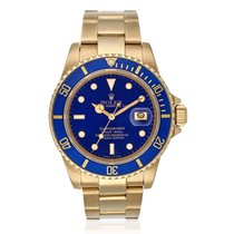Rolex Submariner Date Yellow Gold Blue Dial 40mm