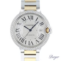 Cartier Ballon Bleu GM Automatic Gold/Steel/Diamonds