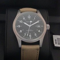 Hamilton Khaki Field Officer Steel 38mm Black Arabic numerals