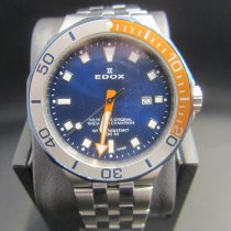 Edox Çelik 43mm Quartz 53015-357BUOM-BUIN yeni