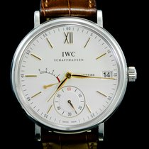 IWC Portofino Hand-Wound Acier 45mm Blanc Sans chiffres