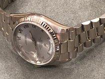 Rolex Day-Date 36 White gold 36mm Silver Roman numerals